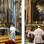 De volta da Irlanda, a oração do Papa a Nossa Senhora e a Santa Mônica